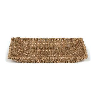 Large Woven Sea Grass Storage Tray Basket