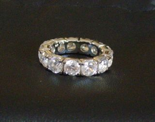 BELLA LUCE STERLING SILVER CUBIC ZIRCONIA ETERNITY RING BAND