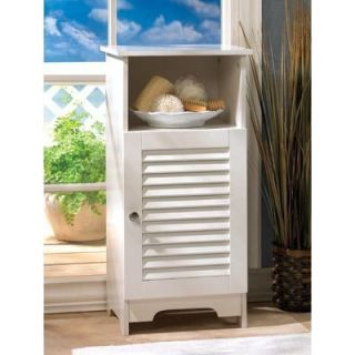 BATHROOM CABINETS Bright White NANTUCKET Bath Storage Cabinet and