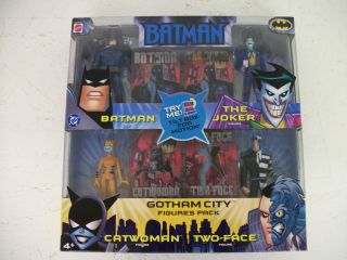 Batman Gotham City Figures Pack Batman Joker Catwoman and Two Face
