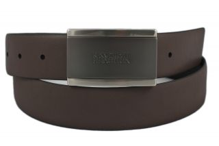 Kenneth Cole Mens Black Brown Reversible Leather Belt Size 38 New w