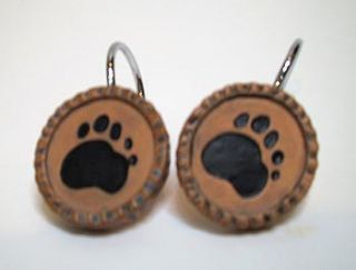 Black Bear Bears Paw Print Shower Curtain Hooks