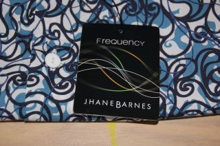 Jhane Barnes Frequency Blue Black White Shirt Mens XL