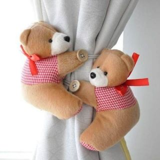 Pair Tieback Little Bear Curtain Buckle Blue ,baby shower , baby decor