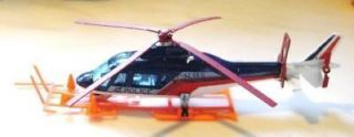 MAJORETTE POLICE AGUSTA 109 HELICOPTER FRANCE 1 60 FREE SHIPPING