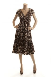 size material retail price bcbg max azria brown 6 100 % silk $ 218