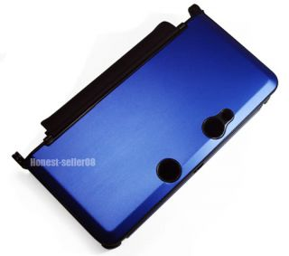 New Blue Plastic Hard Metal Case Cover for Nintendo 3DS