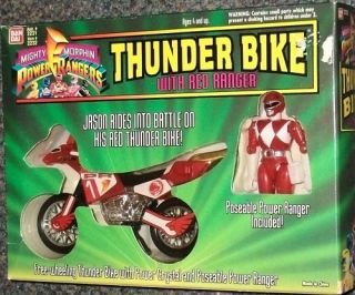 Power Rangers Red Thunder Bike with Red Ranger Jason