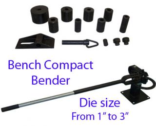 Bench Compact Bender Bending Metal Fabrication Truck Mount Welding w 7