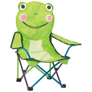 Kids Frog Folding Chair Camping Beach Gear Childrens Furniture Cute
