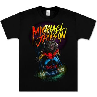 Michael Jackson Cartoon Werewolf Thriller T Shirt XL