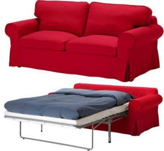 ... IKEA Ektorp Sofabed Cover 2 Seat Sofa Bed Slipcover Idemo Red New NIP  ...
