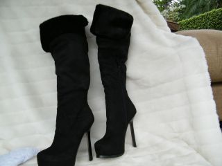 BEBE Shoes Sandals Heels Platform Boots Black Silvana