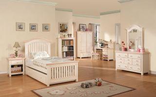 Children Bedroom Set Furniture Cream Full Size Girl Bed