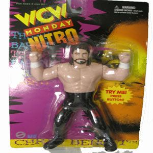 WCW Nitro Chris Benoit Wrestling Figure WWE WWF