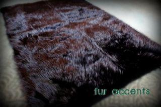 Bear Skin Area Rug Rectangular Faux Fur Accent Rectangle Sheepskin