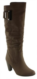 Donna Velenta Beatrice Ladies Womens Boots Shoes Knee High on