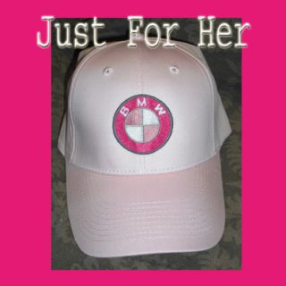 Just for Her Pretty Pink BMW Beemer Baseball Cap Hat