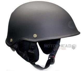 Bell Helmet Drifter DLX Black Mat Motorcycle Half Helmet Medium