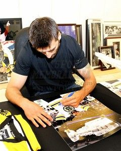 Patrice Bergeron Boston Bruins Signed Autographed Raising Stanley Cup
