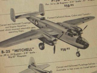 Berkeley B25 Michell U Control Rare Vintage Model Airplane Kit Scale C