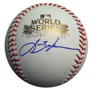 Lance Berkman Signed 2011 World Series Baseball TriStar MLB COA