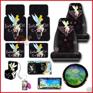 Tinkerbell 11pc Auto Car Seat Covers Accessories Set