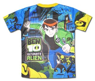 Ben 10 New Ultimate Alien Blue T Shirt Size 4 Age 2 3 015