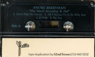 Andre Berryman World According to Dre New Cassette