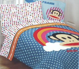 Rainbow Dots Twin Sheets Monkey Skull Crossbones Accent Bedding