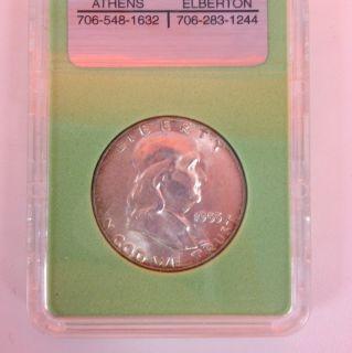 1955 Benjamin Franklin Silver Half Dollar