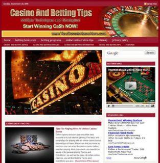 Established CASINO & BETTING TIPS Website For Sale .(Websites by