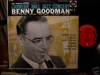 Benny Goodman 1938 Carnegie Hall Concert Vol 3 LP