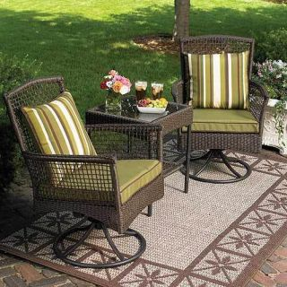 home garden furniture bali 3 piece swivel rocking outdoor patio bistro