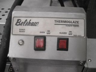 BELSHAW TG 50 DONUT THERMOGLAZER FRYER PROOFERS TZ 6 LOT OF 2