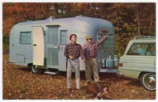 Postcard Avion Travel Trailers in Benton Harbor MI
