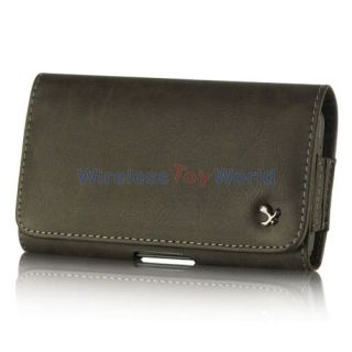 Brown Leather Vintage Pouch Case Belt Clip Holster for Apple iPhone 5
