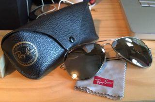 Ray Ban Aviator Sunglasses Large Lenses Mirror Original Packaging