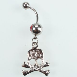 Head Dangle Rhinestone Navel Belly Button Ring Body Piercing