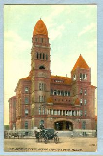 San Antonio Texas TX Postcard Bexar County Court House