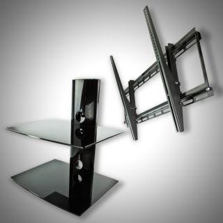 New Tilt Flat Screen TV Wall Mount for 32 37 42 46 50 52 60 & 2 Tier