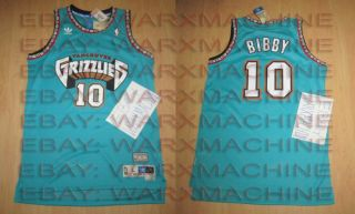 New Mike Bibby Vancouver Grizzlies Adidas Swingman Medium Jersey RARE