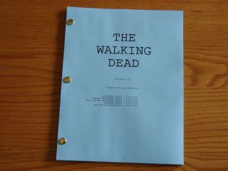 The Walking Dead TV Script Zombie Andrew Lincoln Jon Bernthal