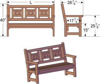 Redwood Solid Redwood 6ft Garden Patio Deck Bench Handmade