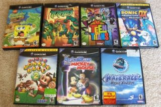 Wii & Gamecube 21 Game Lot Spongebob Bakugan Ben 10 Hot Wheels & More
