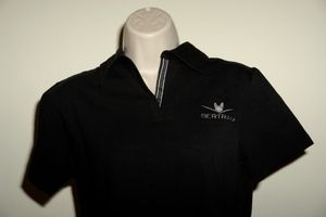 Bertram Yacht Sport Fishing Boat Devon and Jones Polo Shirt Black