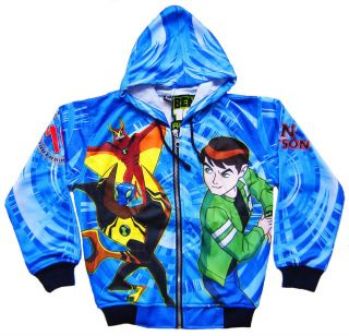 BEN 10 Alien Force Ultimate JACKET Blue Coat Top Kids Boys Clothes NEW