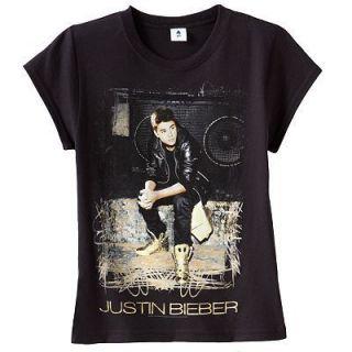 New Girls Justin Bieber Black x mas Shirt Tee Set Outfit Clothes XL 14