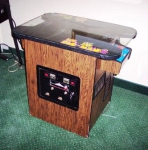 MS Pacman Galaga Arcade Video Game Cocktail Table