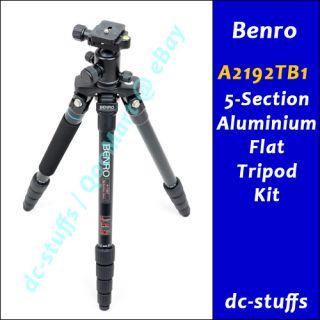 Benro A2192TB1 Alum Flat Tripod Kit 2 QR Plate Package A2692TB1